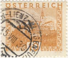 AUTRICHE / ÖSTERREICH 1930 SILLIAN-LIENZ-KLAGENFURT Nr? Bahnpoststempel / Mi.498 - Gebruikt