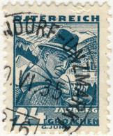 AUTRICHE / ÖSTERREICH 1935 MAUTENDORF-UNZMARKT Nr.316 Bahnpoststempel On Mi.575 - Gebruikt