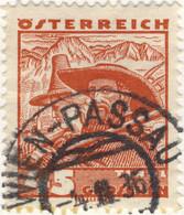 AUTRICHE / ÖSTERREICH 1936 WIEN-PASSAU Nr? Bahnpoststempel On Mi.540 - Gebruikt