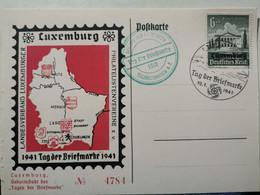 Entier Postaux, Luxembourg Tag Der Briefmarke 1941. Timbre 6+4 - Postwaardestukken