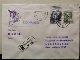 Lettre, Vélo-Sport Roméo Hamm, Recommande 1974 - Covers & Documents