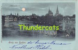 CPA AACHEN GRUSS AUS ELISENBRUNNEN HALT GEGEN DAS LICHT HOLD TO LIGHT CONTRE LUMIERE - Aachen