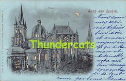 CPA AACHEN GRUSS AUS DOM HALT GEGEN DAS LICHT HOLD TO LIGHT CONTRE LUMIERE - Aachen