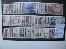 Timbres France Année 1960** Neufs Sans Charnière Cote : 83€ - Prix : 8,50€ - 1960-1969