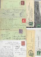LOT DE 100 CARTES AVEC CACHET CONVOYEUR / AMBULANT . TOUTES SCANNEES - Railway Post