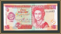 Belize 5 Dollars 1999 P-61 (61a) UNC - Belize