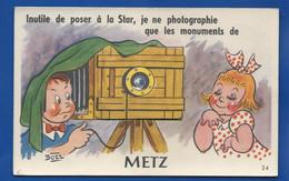 METZ   Carte A Système Dépliant De Vues - Metz