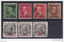 CUBA:  1899/60  SOPRASTAMPATI  -  7  VAL. US. -  YV/TELL. VARI - Oblitérés
