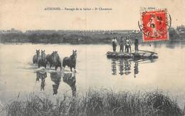 A-20-8738 :  AUXONNE. PASSAGE DE LA SAONE PAR LES CHEVAUX DU 8° CHASSEUR. CHEVAL - Auxonne