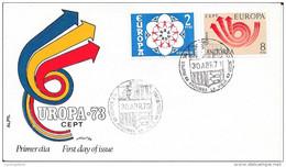 TIMBRES N° 93 / 94   EUROPA   ANDORRE ESPAGNOL    -   1973  -   FDC - Brieven En Documenten