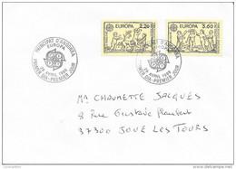 TIMBRES N° 391 / 392  -   EUROPA  ANDORRE FRANCAIS -  1989  CIRCULEE - Cartas