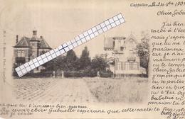 """CAPPELLEN-KAPELLEN""""OUDE BAAN-RUBENSHEIDE-2 VILLA'S"""" HOELEN N°8 TYPE 1 UITGIFTE 1901-ZEER ZELDZAAM - Kapellen"""