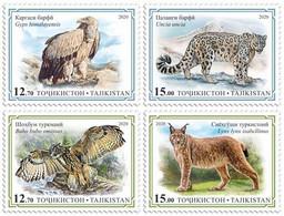 Tajikistan 2020 Birds Of Prey & Wild Cats. OFFICIAL ISSUE - Tajikistan