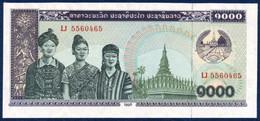 LAOS 1000 KIP P-32d Women, Pha That Luang Pagoda (Vientiane) - Cows 1996 UNC - Laos