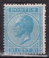 Belgique - COB 18 Sans Gomme - Monté Sur Charnière - 1865-1866 Profile Left