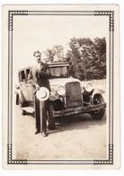 AUTOMOBILE NON IDENTIFICATA - AUTO - CAR  - 2 FOTOGRAFIE  ORIGINALI ANNI '30 - Automobili