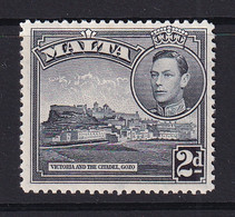 Malta: 1938/43   KGVI     SG221    2d   Slate-black  MH - Malte (...-1964)