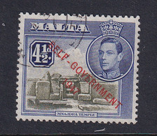 Malta: 1948/53   KGVI 'Self Government' OVPT    SG241a   4½d   Olive-green & Dull Ultramarine     Used - Malta (...-1964)