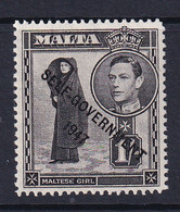 Malta: 1948/53   KGVI 'Self Government' OVPT    SG243    1/-    MH - Malta (...-1964)