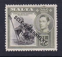 Malta: 1948/53   KGVI 'Self Government' OVPT    SG244   1/6d     MH - Malta (...-1964)
