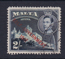 Malta: 1948/53   KGVI 'Self Government' OVPT    SG245    2/-    Used - Malta (...-1964)