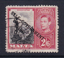 Malta: 1948/53   KGVI 'Self Government' OVPT    SG246    2/6d    Used - Malta (...-1964)