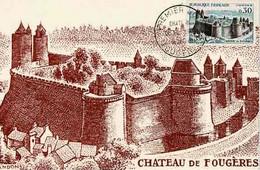 CPM - 35 FOUGERES - Carte 1er Jour Château De Fougères - 16 Janvier 1960 - Fougeres