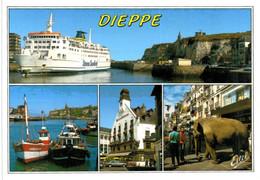 Dieppe -  Port - Café Des Tribunaux - Rue Piétonne - Paquebot Stena Sealink - Dieppe