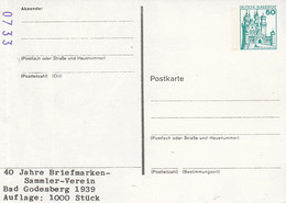 PP 103/35** 40 Jahe Briefmarken - Sammler - Verein Bad Godesberg 1939 - Auflage: 1000 Stück - Privatpostkarten - Ungebraucht