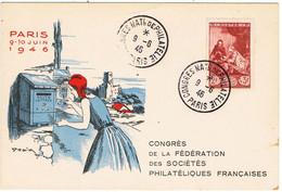 """Congrès National De Philatélie / Paris 1946 / Illustrateur """" Draim """" ( Miard ) - Andere Zeichner"""