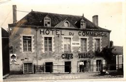Thematiques 53 Mayenne Forcé L'Hotel Hôtel Du Commerce Café Tabac Timbre CachetBeyon - Other Municipalities