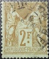 France N°105 Sage 2 Fr. Bistre Sur Azuré. Oblitéré CàD - 1898-1900 Sage (Type III)