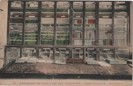 TURKEY CONSTANTINOPLE Collège Etablissement Frères Saint Joseph KADI KEUI Colorisée 45 Institut Commercial Bibliothèque - Türkei