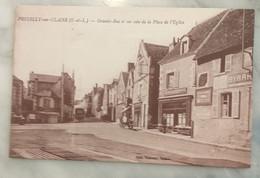 37 PREUILLY SUR CLAISE - Grande Rue Et Place De L'église - Other Municipalities