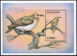1999 Tanzania Grenada Dove Souvenir Sheet (** / MNH / UMM) - Palomas, Tórtolas