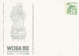 PP 104/70**  WÜBA'8o Briefmarkenausstellung Rang II 17.-19.10.1980 - Privatpostkarten - Ungebraucht