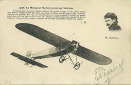 AVIATION VEDRINES SUR MONOPLAN MORANE SIGNATURE JOLI PLAN ANIMATION  A VOIR - Piloten