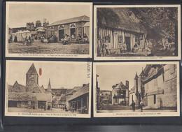4 CPA - VEULES-LES-ROSES (76) Une Ferme, Place Du Marché Et L'eglise, Rue Principale Et La Plage Avec Les Bains Chauds - Veules Les Roses