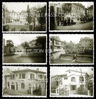 SALIES DE BEARN - LOTS 6 PHOTOS 1943 - SOLDATS ALLEMANDS - PLACE - FUNÉRAILLES - PONT -  THERMES - VILLAS - COMMERCES - Salies De Bearn