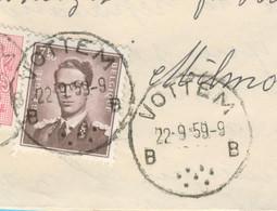 N° 1070 (7 F50) Sur Recommandé Vottem 22-9-1959 - Briefe U. Dokumente