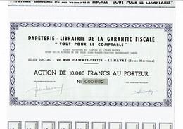 """76-PAPETERIE-LIBRAIRIE DE LA GARANTIE FISCALE. """"Tout Pour Le Comptable"""" LE HAVRE - Other"""