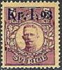 ZWEDEN 1917-18 Opdruk 1,98/5kr Karmijn Gustav V PF-MNH-NEUF - Neufs