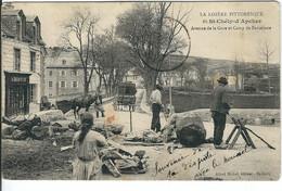 LOZERE : St Chély D'Apcher : Avenue De La Gare Et Camp De Barcelone, Belle Carte Animée, RARE... - Saint Chely D'Apcher