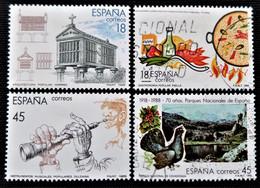 Timbre Edifil  Série Complète  N° 2935 à 2938 - 1981-90 Oblitérés