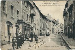 LOZERE : St Chély D'Apcher : Rue Theophile Roussel, Avenue D'Aumont, Belle Animation, RARE... - Saint Chely D'Apcher