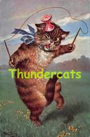 CPA ILLUSTRATEUR ARTHUR THIELE CHAT DIABOLO ARTIST SIGNED CAT PLAYING GAME - Thiele, Arthur