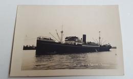 ANTIQUE PHOTO POSTCARD SHIPS ARRIVÉ DU VILLE D'AMIENS A BORDEAUX UNUSED - Passagiersschepen