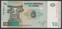 Ref. 6124-6629 - BIN CONGO. Democratic Republic . 1997. CONGO REPUBLICA DEMOCRATICA / KINSASA 1997 10 FRANC - Sin Clasificación