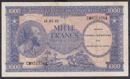 Ref. 6107-6612 - BIN CONGO. Democratic Republic . 1962. CONGO REP�BLICA DEMOCR�TICA / KINSASA 1962 1000 FRANCS - Sin Clasificación