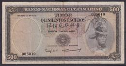 Ref. 5344-5849 - BIN TIMOR . 1963. TIMOR 1963 500 ESCUDOS - Timor
